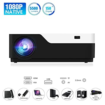 Twinyuan Proyector, Video proyector Mejorado 5500 lúmenes ...