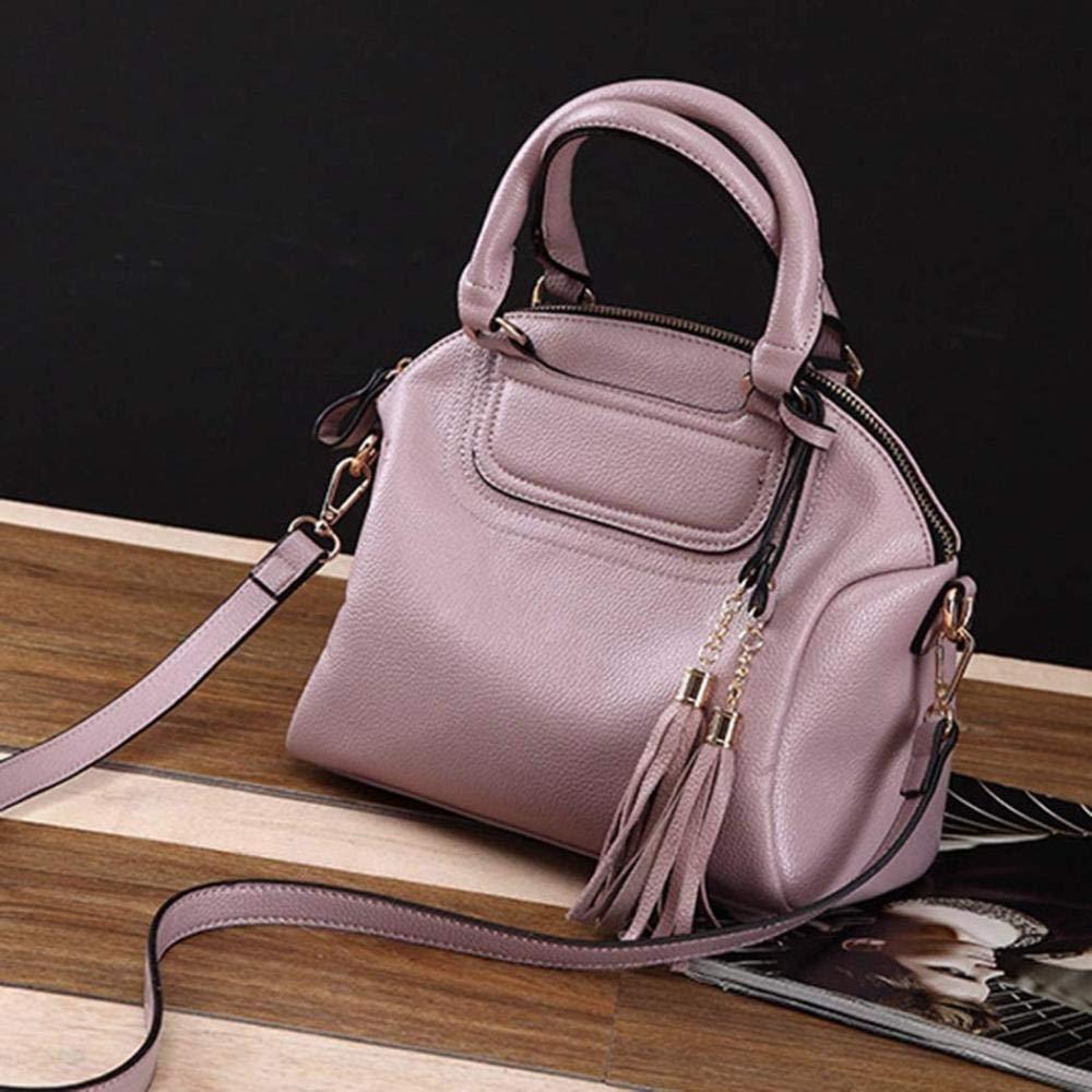 aoshengjia svart handväska kvinnor handväskor stor läder handväska axelväskor axelväskor väska handväska kvinnor rosa Rosa