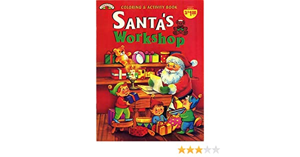 santas workshop coloring activity book landoll amazoncom books