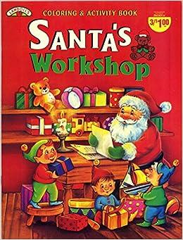 Gingerbread Santa Workshop Coloring Page | Coloring pages, Santas ... | 341x260