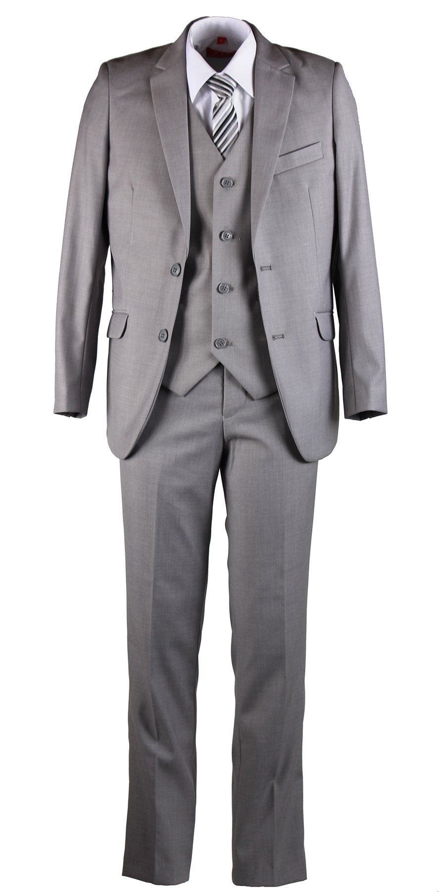 Tuxgear Boys Slim Fit Light Grey Suit In Toddlers To Boys Sizing (7 Boys)