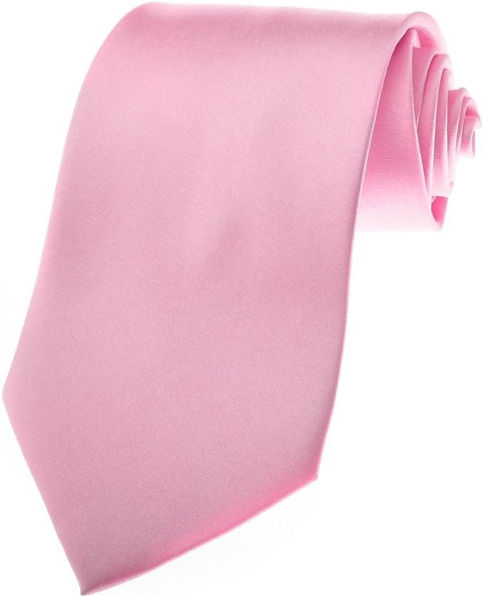 TopTie Mens corbata color rosa Corbatas, el cáncer de mama de la ...