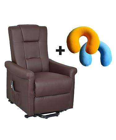 PHILMED - XXL Fernseh-TV-Sessel Kent mit Nackenhörnchen, belastbar bis 130 kg, Aufstehhilfe, Liegefunktion, stufenlos elektri