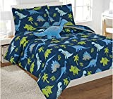DINOSAURS BOYS COMFORTER,SHAMS,DECORATIVE TOSSPILLOW,FLAT SHEET SET,FITTED SHEET,PILLOWCASES 8 PCS FULL SIZE