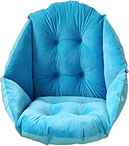 NSYNSY Thicken Warm high Back Chair Cushion,Plush Waterproof Office Cushion Comfortable Chair Pads-A