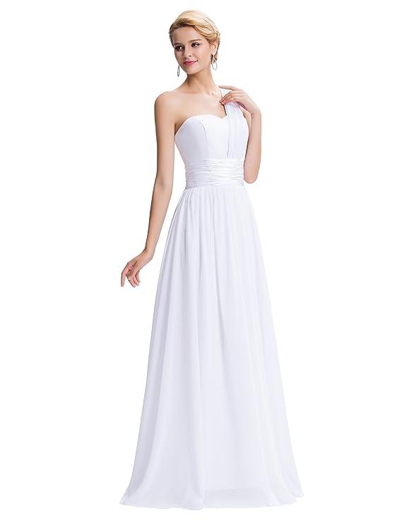Quissmoda vestido novia largo fiesta, noche, gala: Amazon.es: Ropa y accesorios