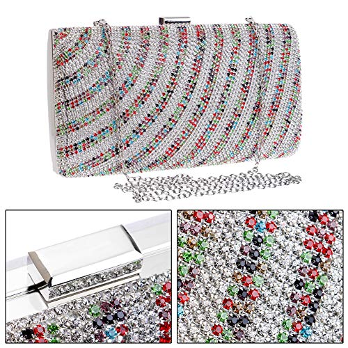 Dress Bead Handbags Wedding Multi Purse Evening Clutches Chain Bags Womens Color For FH8qY7