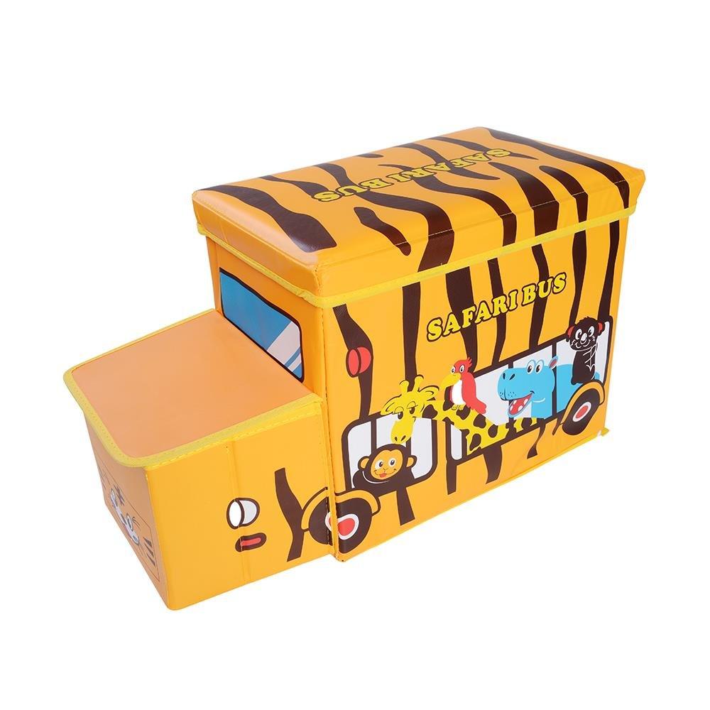 OVI トラック おもちゃ収納ボックス おもちゃ チェスト オーガナイザー 折りたたみ式 蓋付きシート 9T-BOX-Car@1-05  Tiger Car B077PLVC2N