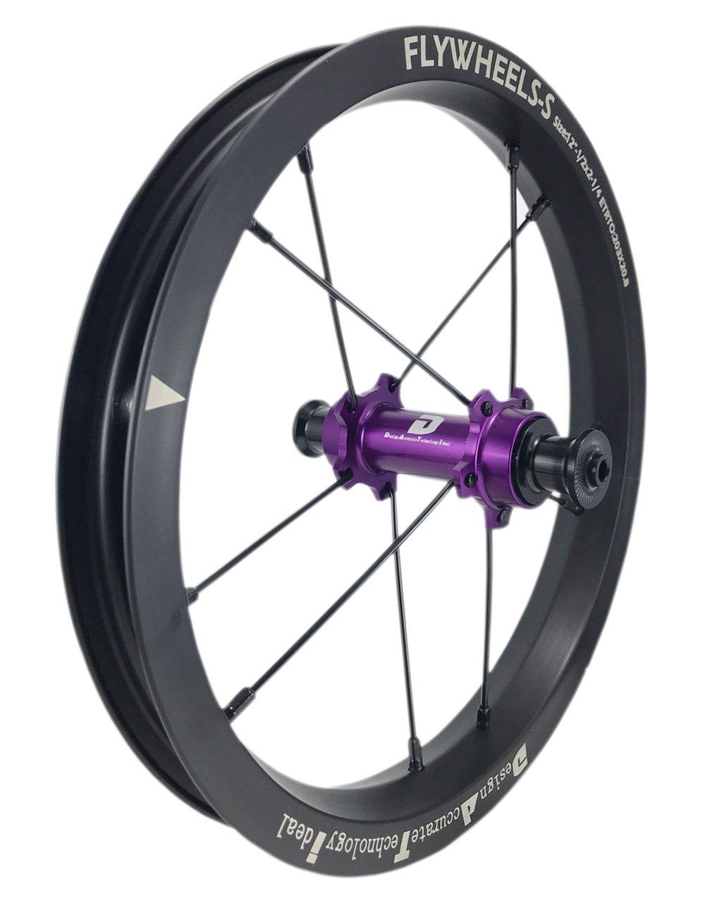 DATI 12インチ S7X-W Alloy レース レベル. 低抵抗.スムーズ.バランスバイク Kids Balance Bike Bicycle Super light 子供自転車ホイール B07DKC22YZ Strider :95*8MM|紫 紫 Strider :95*8MM