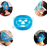 Denshine Hot Cold Facial Ice Mask, Cooling Gel Beauty Mask Ice Face Mask for Migraine Headache, Stress Relief, Reduces Eye Puffiness, Dark Circles, Freezable, Reusable