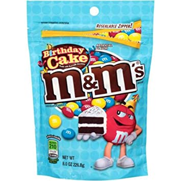 Amazoncom MMs Birthday Cake Flavor 8oz Bags 2 Pack Grocery
