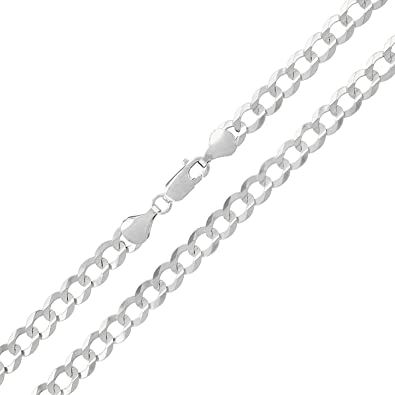 Unisex 925 Sterling Silver Rhodium Plated Miami Curb 8 Inches Id Bracelet Always Buy Good Fine Bracelets Precious Metal Without Stones
