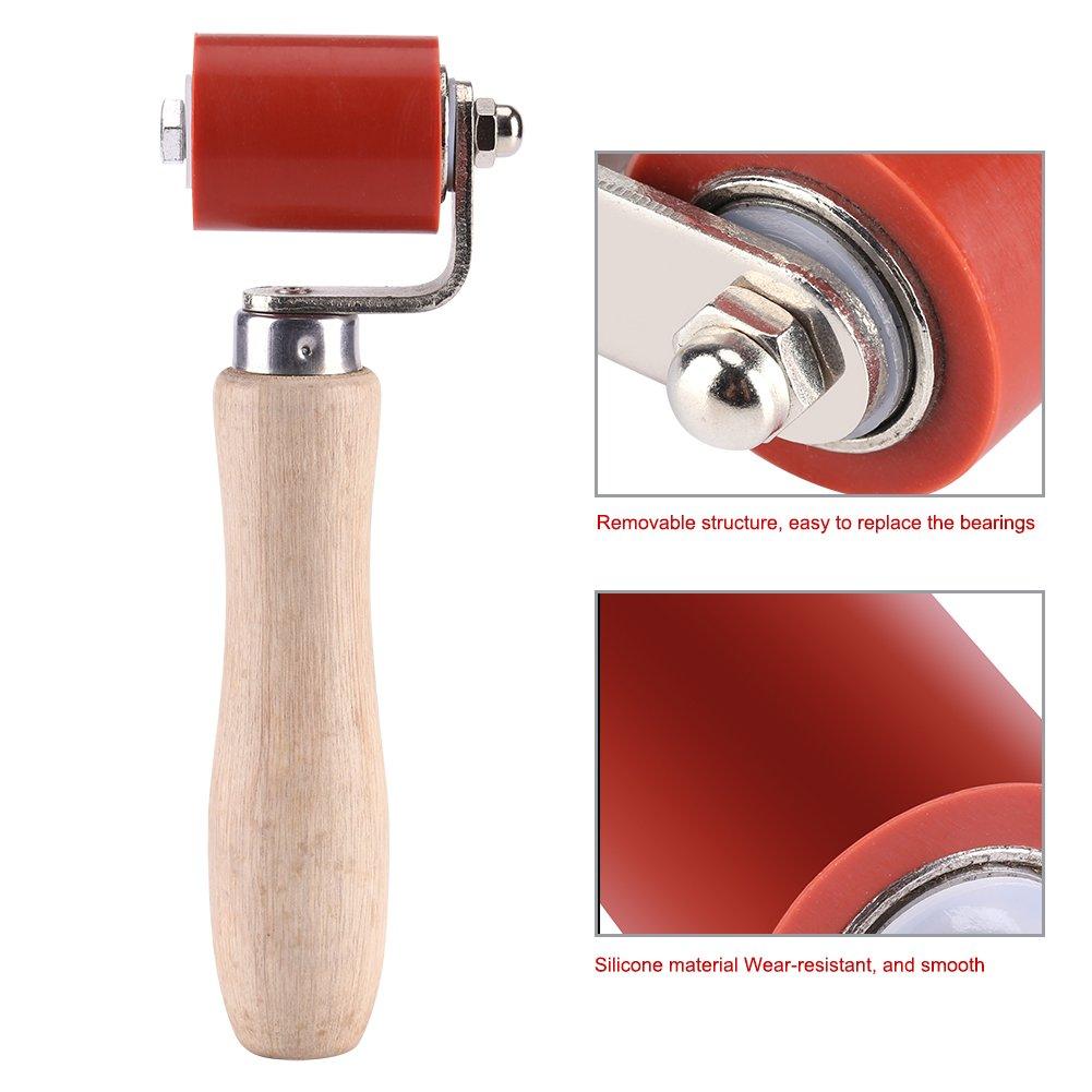 Fdit 1pc 40mm Rodillo Presionador Manual Resistente a Alta Temperatura Rodillo de Presión de Silicona PVC Soldadura Herramienta de Instalación ...