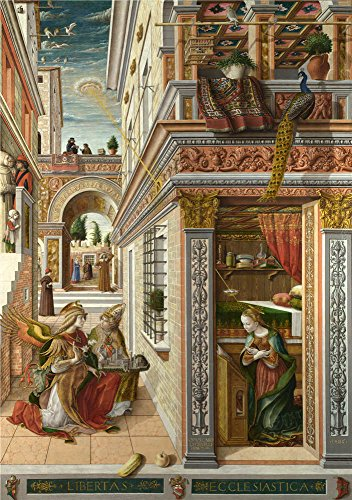 Oil Painting 'Carlo Crivelli The Annunciation With Saint Emidius ' Printing On Polyster Canvas , 12 X 17 Inch / 30 X 43 Cm ,the Best Bar Gallery Art And Home Decoration And Gifts Is This Best Price Art Decorative Canvas Prints