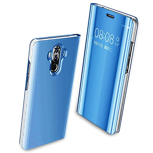 separation shoes ca793 dc307 Case Apply for Huawei mate 10 pro case Clear View Flip Holder cover  Electroplate Kickstand Mirror Huawei mate 20 pro / 20/10