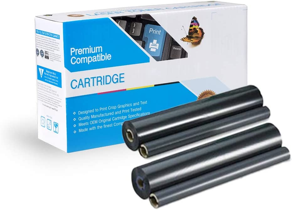 Box of 2 Refill Rolls for KX-FA135 Print.After.Print Compatible TTR Replacement for KX-FA136 Works with
