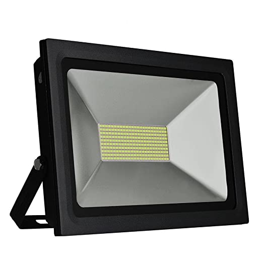 SOLLA 100W LED Flood Light Outdoor Security Lights, Super Bright Led Floodlight Waterproof Landscape Spotlights Outdoor Wall Lighting, 8600LM,Daylight White(5500-6000K),480LEDs