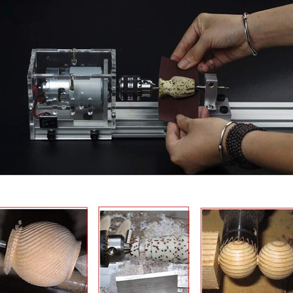 Homyl Mini Diy Bois Tour Perles Polir Machine Scie de Banc Perceuse Outil Coupe