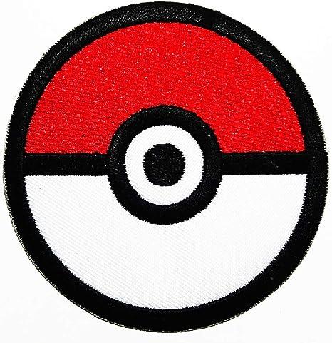 Parche bordado con diseño de pelota roja de dibujos animados para ...