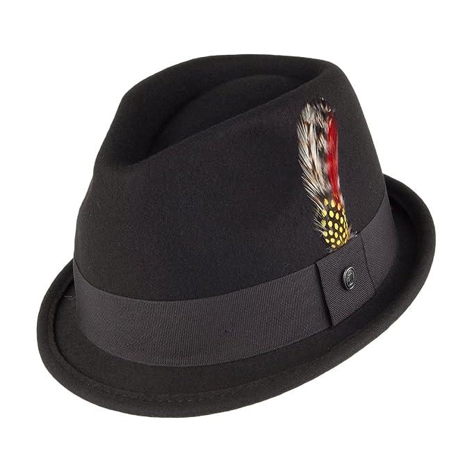 1b825a85acc05 Jaxon & James Crushable Dekker Trilby Hat - Black: Amazon.co.uk ...