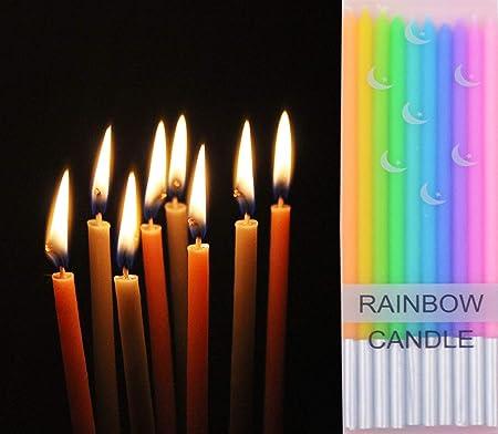 T-shin Velas de arcoíris, Paquete de 10 Velas Coloridas ...
