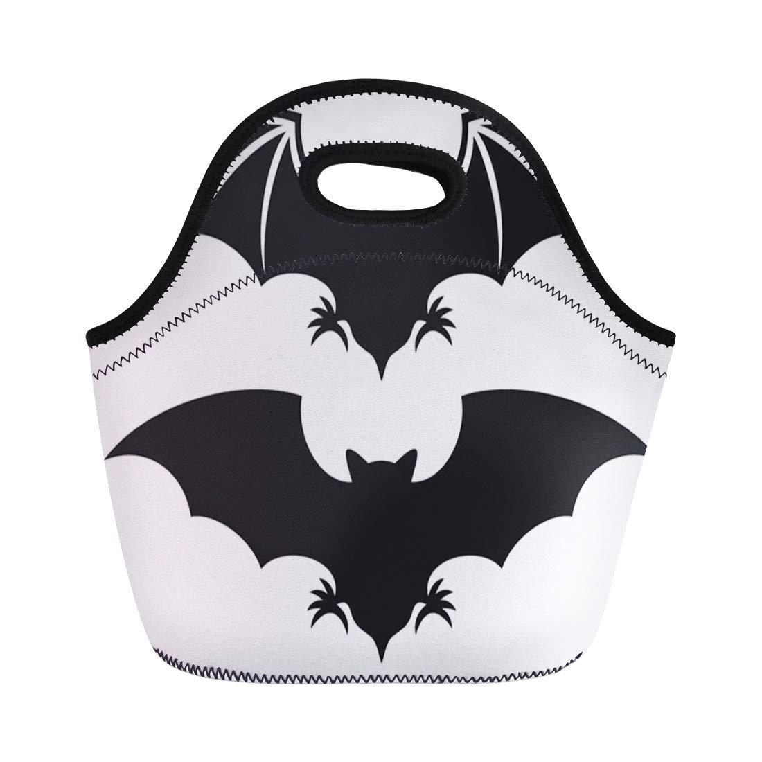 b3d2ce15f054 Amazon.com: Semtomn Lunch Tote Bag Halloween Flight of Bat ...
