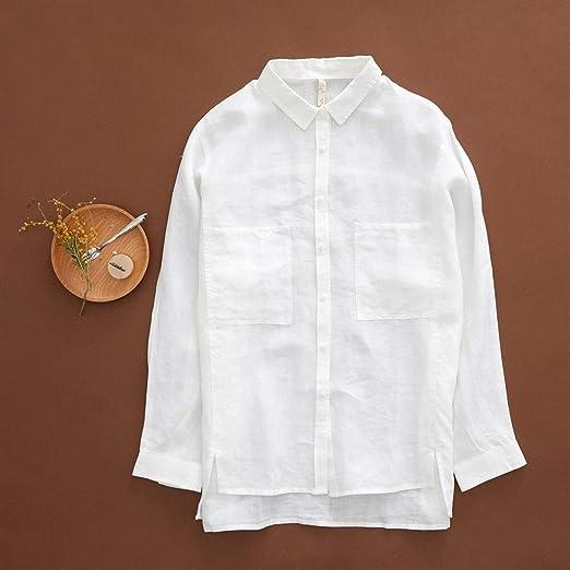 Camisa Camisas Blancas de Marca Blusa de Manga Larga Femenina ...