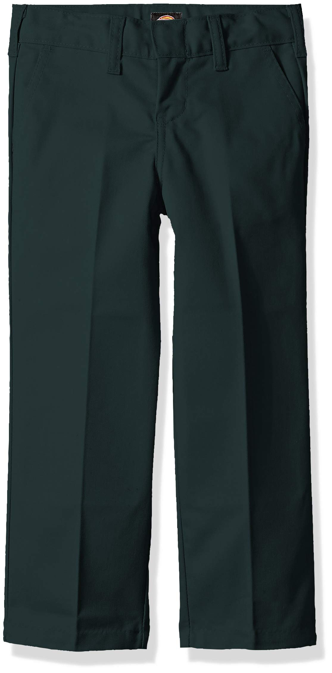 Dickies Kids Boys' Big Flexwaist Flat Front Straight Leg Pant, Hunter Green, 16 by Dickies Kids