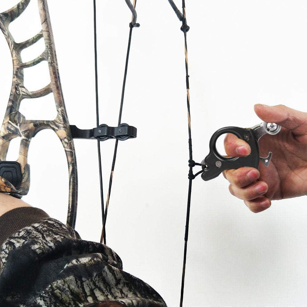 Lanzamiento de arco Azul metal Pinza de liberaci/ón de arco de 4 dedos Pulgar Disparador Empu/ñadura Caza Accesorios de disparo