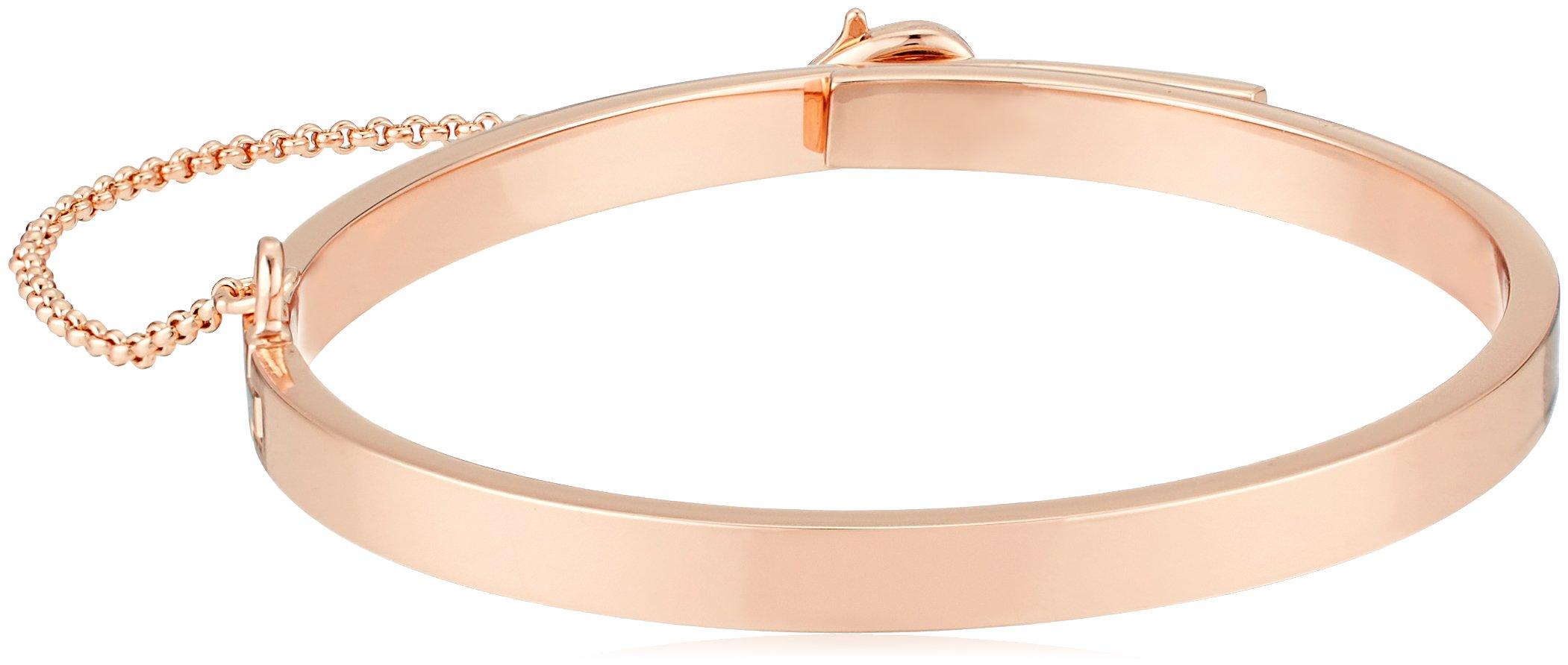 EDDIE BORGO Extra Thin Safety Chain Rose Gold Cuff Bracelet