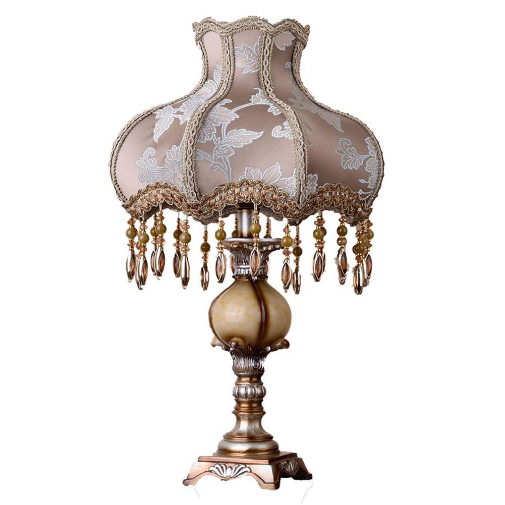 MMJ Nachttisch Lampe Dresser Fabric Shade Schreibtisch Lampe Resin Lampe für Schlafzimmer Wohnzimmer Dorm Coffee Table,73  40cm