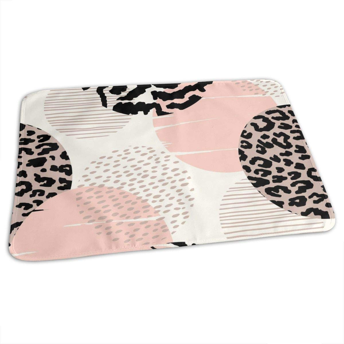 Osvbs Lovely Baby Reusable Waterproof Portable Abstract Geometric Leopard Print Changing Pad Home Travel 27.5''x19.7'' by Osvbs