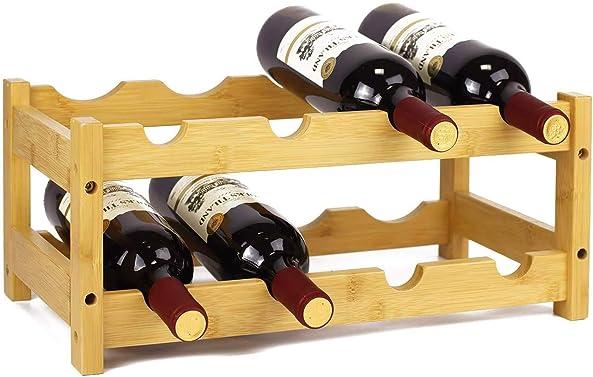 gzshengqi Wine Storage Rack of Thicker Bamboo Wood
