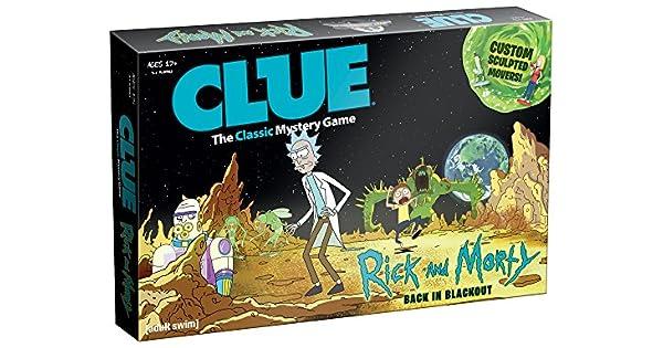 Amazon.com: USAopoly Rick & Morty Clue Juego de tablero ...