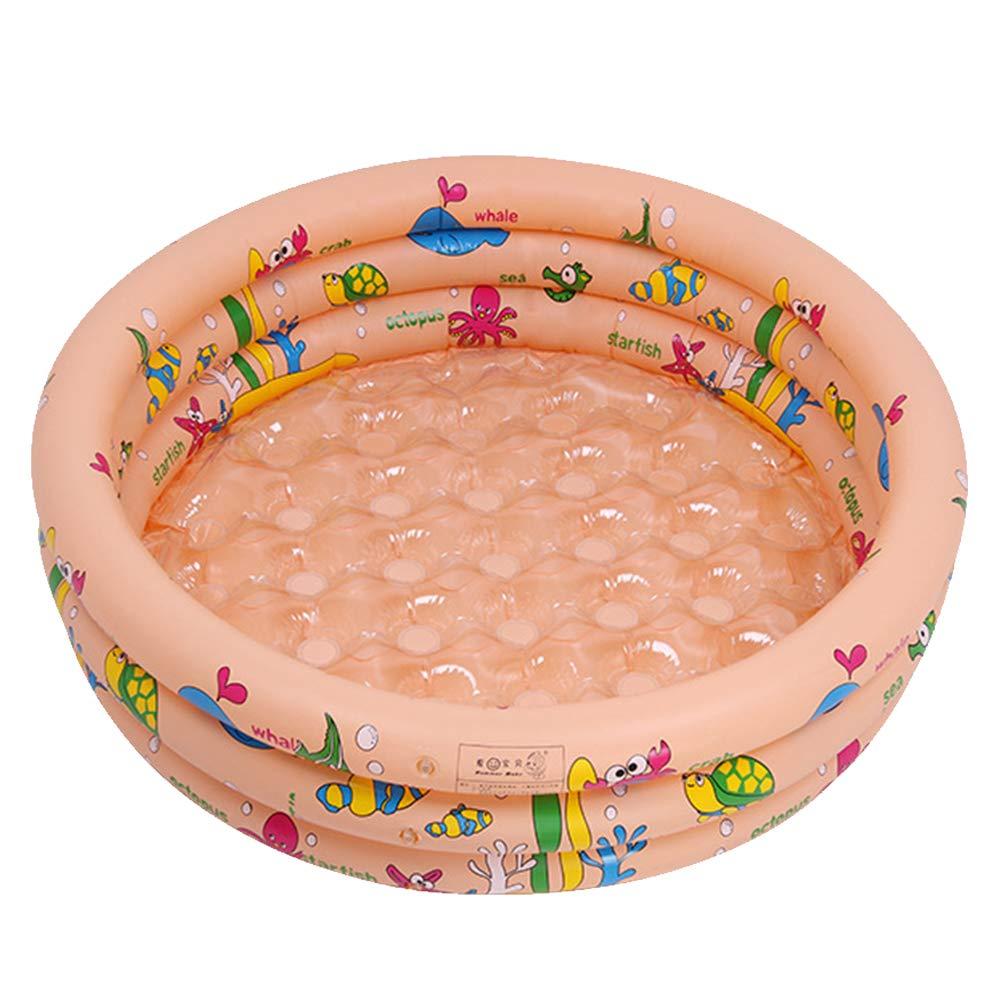 WQING Aufblasbarer Pool Schwimmen Aufblasbarer Pool Planschbecken Ideal für Kinder 110cm  110cm  30cm