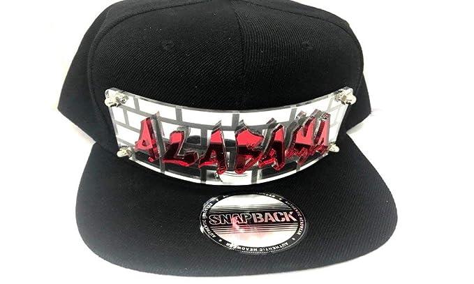 1a9757b5e0b16 Personalized Custom Snapback Hat Six Panel Flat Bill Snap Back Hat Cap with  Laser Cut Graffiti