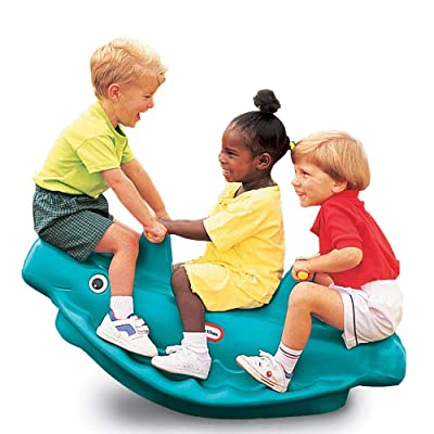 Little Tikes 486098 Classic Whale 3-Rider Teeter Totter Toy with Handles, Blue: Toys & Games