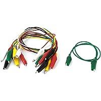 10 renk, 5 adet çift taraflı timsah kelepçesi ölçüm kablosu kablosu, 50 cm