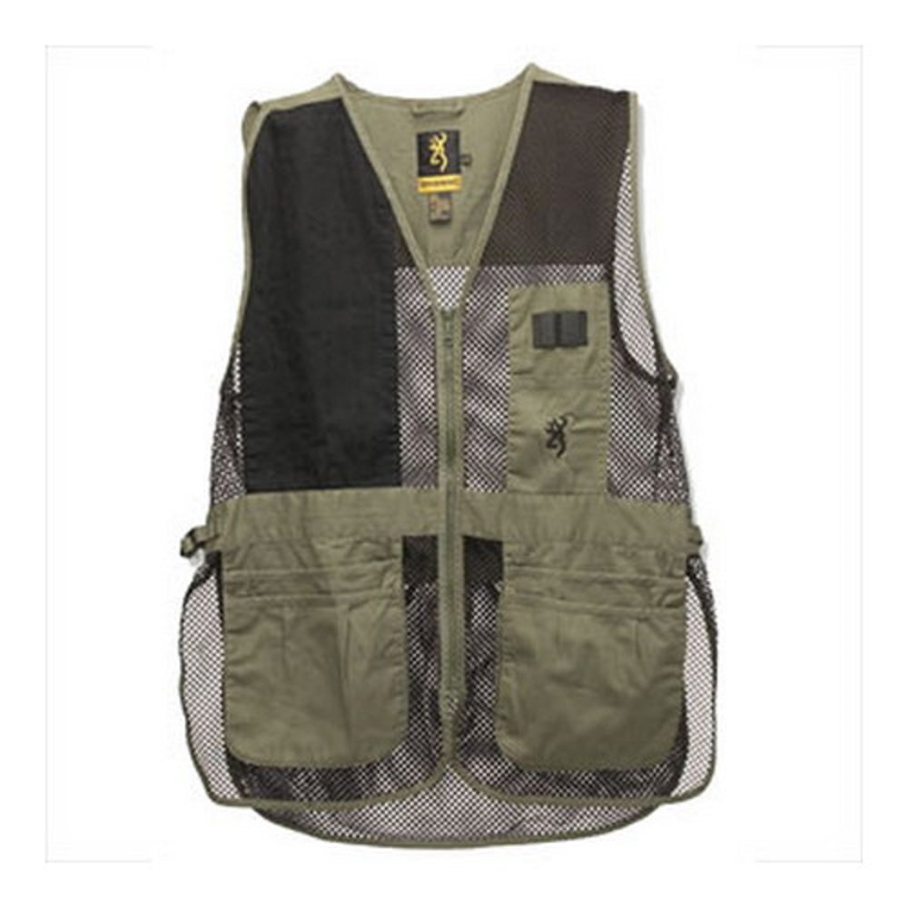 Browning Trapper Creek Vest, Sage/Black, Large by Browning
