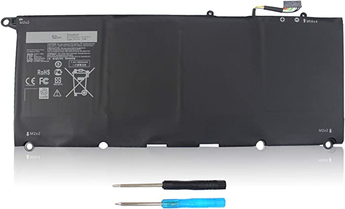 LXHY JD25G 7.4V 52Wh 6930mah Laptop Battery Compatible with Dell XPS 13 9343 9350 13D 9343 13D-9343-1808T 13D-9343-150 13D-9343-1508, 90V7W 5K9CP DIN02 0DRRP JHXPY 0N7T6 RWT1R 4 Cells Replacement