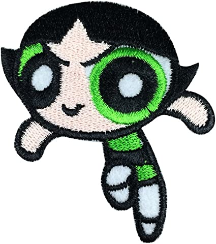 "POWERPUFF GIRLS EMBROIDERED Iron On Patch 5/"" x 3/"""