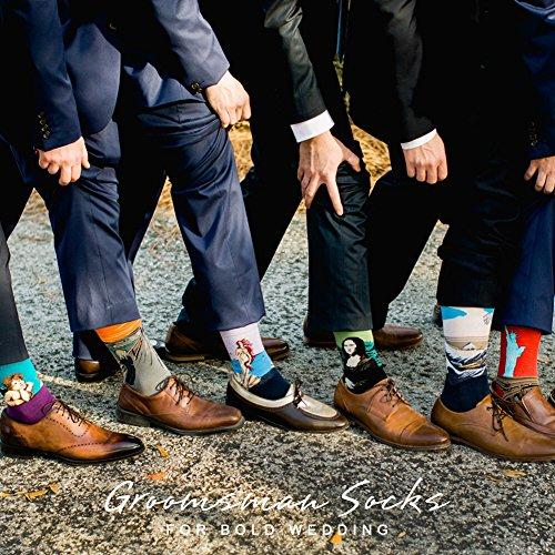 Bonangel Men's Fun Dress Socks-Colorful Funny Novelty Crew Socks Pack,Art Socks by Bonangel (Image #4)'