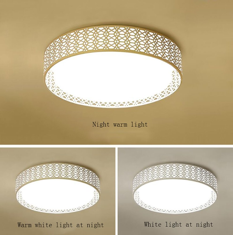 Ceiling light TOYM UK LED Luz de Techo Moderna Redonda Atmósfera Minimalista Moderna Techo Sala de Estar Comedor Comedor Estudio Iluminación (Color : 38cm (Three Color 18W)) 9870d9