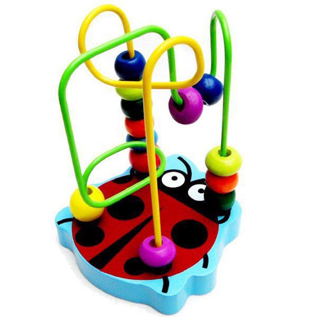 Tongshi Los ni/ños del beb/é de madera colorido mini alrededor de bolas de juguete educativo del juego