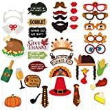 38PCS Thanksgiving Day Photo Booth Props Colorful for Festival Party Supplies,Turkey Creative Decorations Kit by Friday Night
