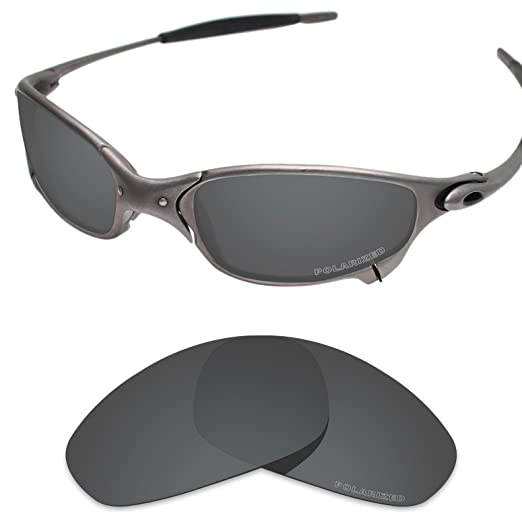 6cf38338da Tintart Performance Lenses Compatible with Oakley Juliet Polarized Etched-Carbon  Black