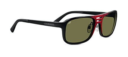 5bd55351969d Amazon.com: Serengeti Lorenzo Sunglasses (555nm, Shiny Red Granite ...