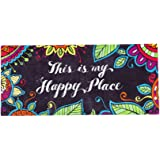 Evergreen This Is My Happy Place Decorative Mat Insert, 10 x 22 inches