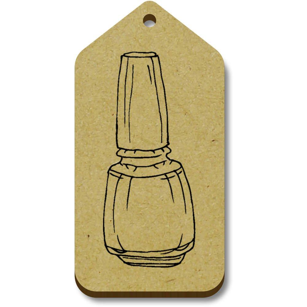 Azeeda 10 x \'Vernis à Ongles\' etiquettes de Bagage / Cadeau en Bois (TG00007802)