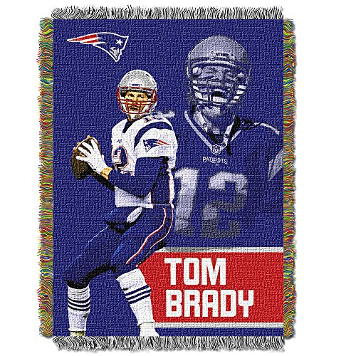England Patriots Tapestry New (Northwest New England Patriots Tom Brady Throw Blanket)